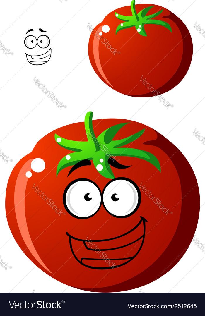 Ripe red cartoon tomato vector   Price: 1 Credit (USD $1)