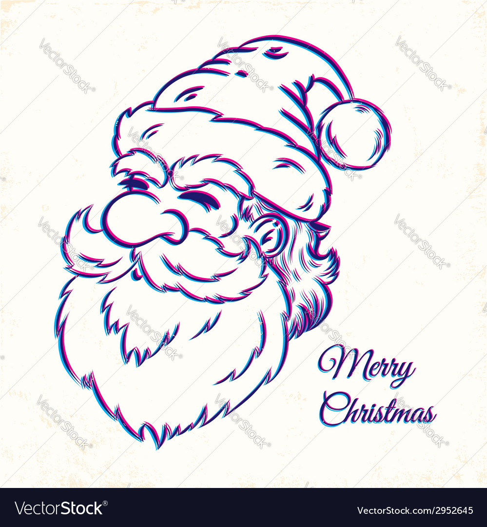 Santa cmyk vector | Price: 1 Credit (USD $1)