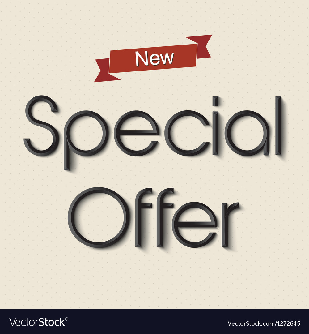 Special offer vector | Price: 1 Credit (USD $1)