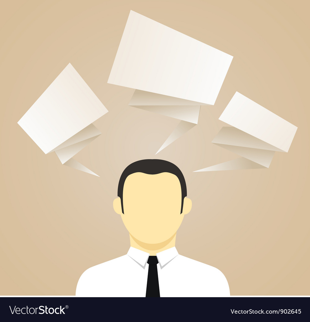 Thinking man vector | Price: 1 Credit (USD $1)