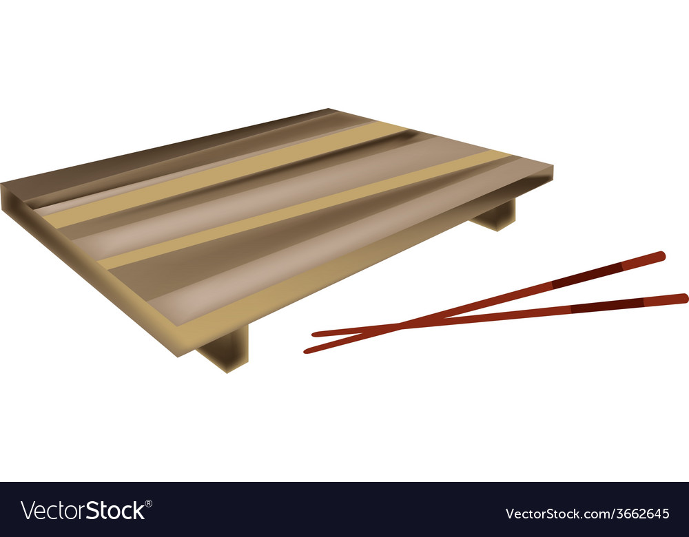 Wooden geta plate or bamboo sushi board vector | Price: 1 Credit (USD $1)