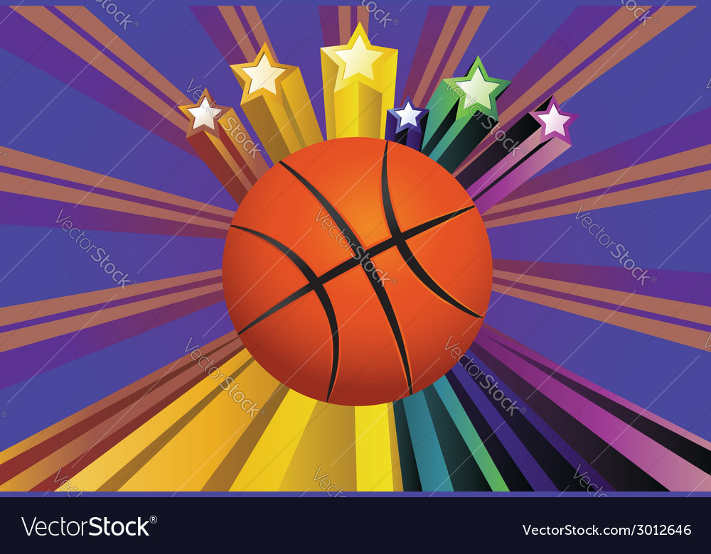 Basketball ball background2 vector | Price: 1 Credit (USD $1)