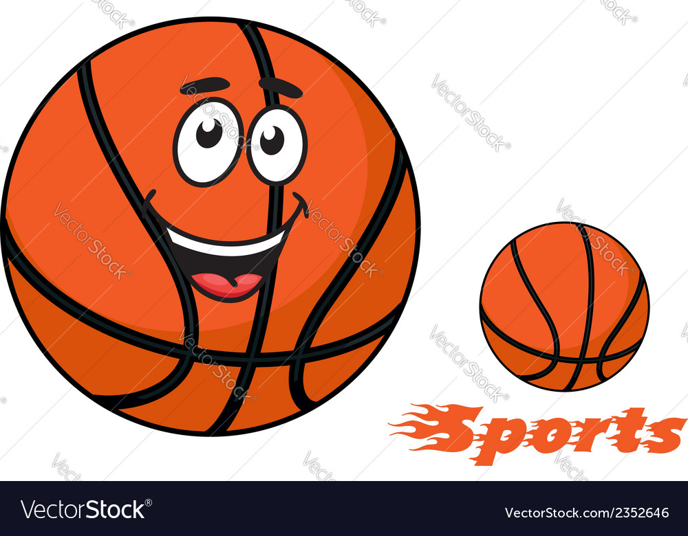 Basketball ball with flaming sports text vector | Price: 1 Credit (USD $1)