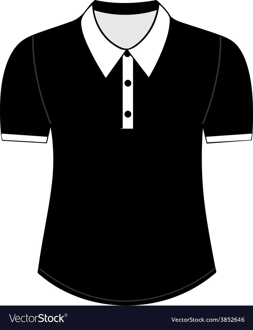Blank shirt with short sleeves template vector | Price: 1 Credit (USD $1)