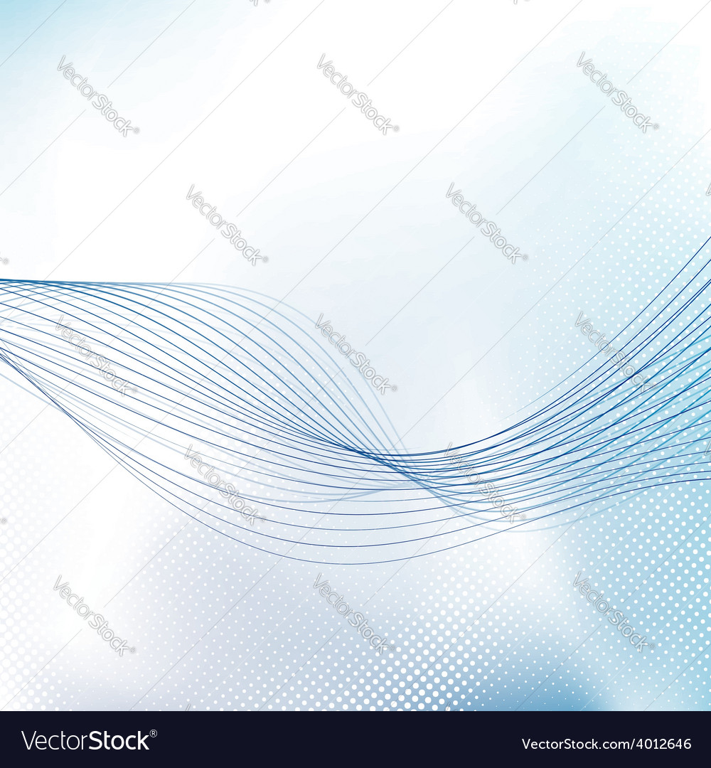 Blue modern swoosh line dotted brochure background vector | Price: 1 Credit (USD $1)