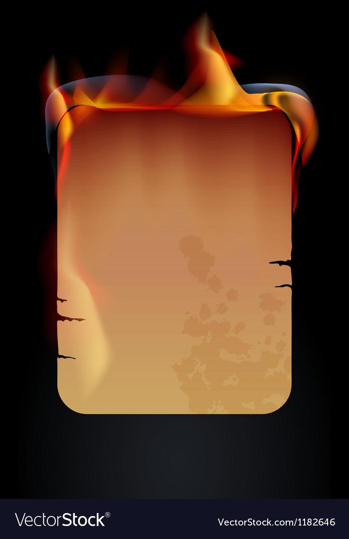 Burning paper vector | Price: 1 Credit (USD $1)