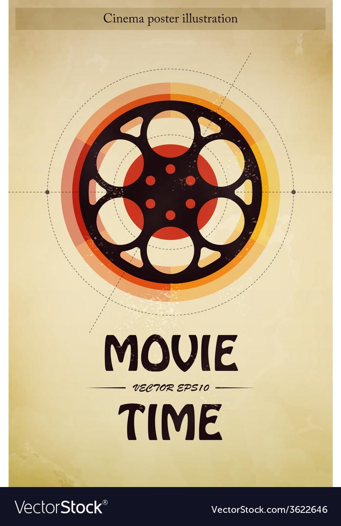 Cinema poster vector | Price: 1 Credit (USD $1)
