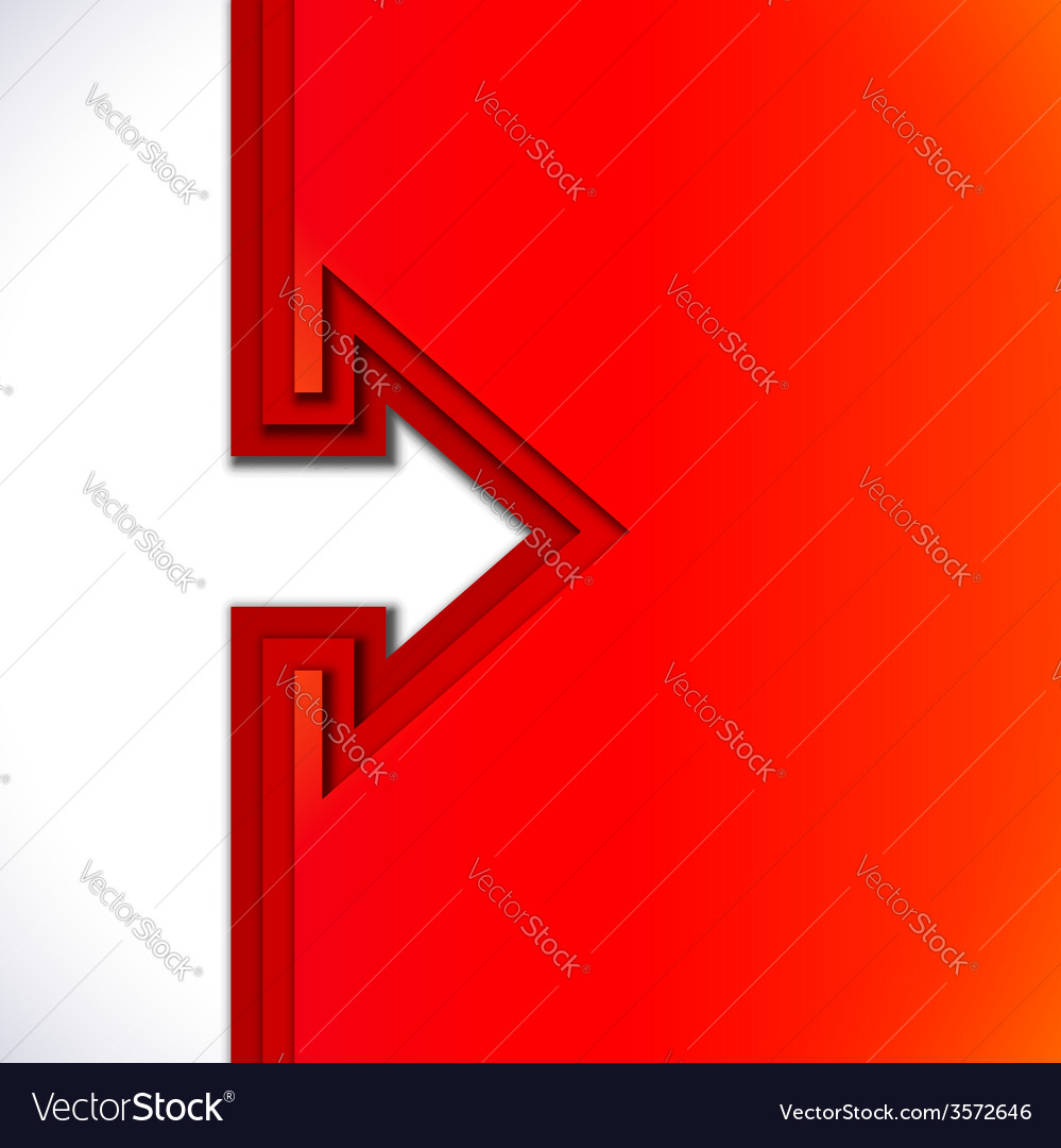 Colorful arrow with red cut paper layers vector | Price: 1 Credit (USD $1)