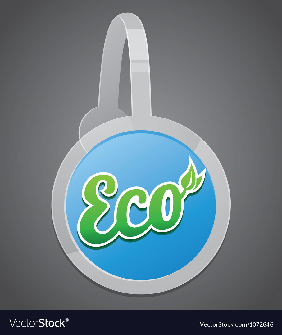 Ecology label vector | Price: 1 Credit (USD $1)