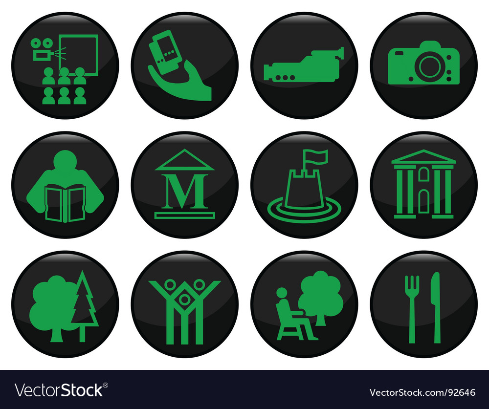 Entertainment icons vector | Price: 1 Credit (USD $1)