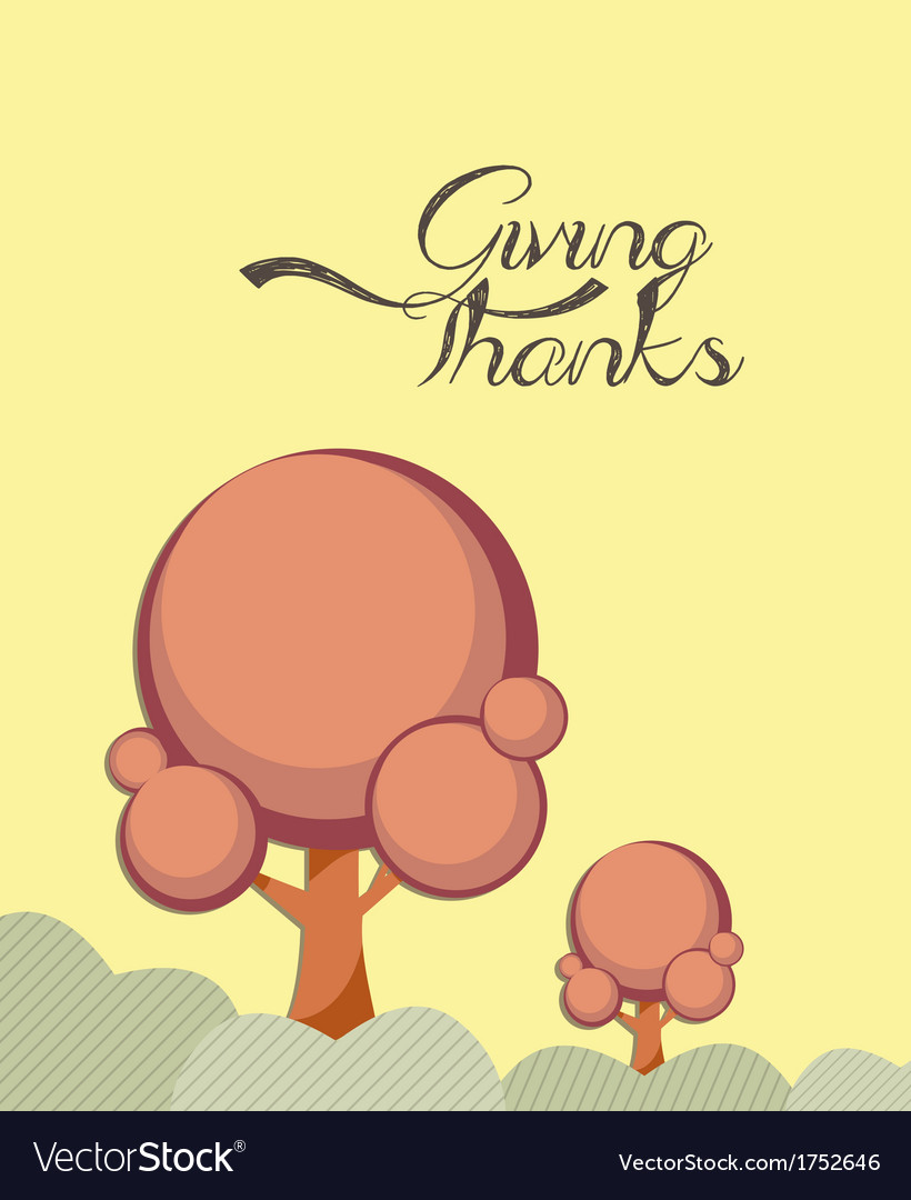 Giving thanks happy card vector | Price: 1 Credit (USD $1)