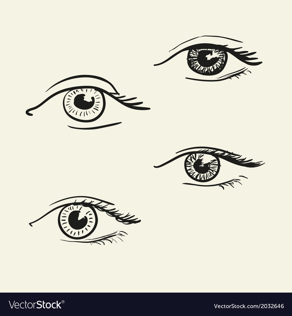 Hand-drawn eyes vector | Price: 1 Credit (USD $1)