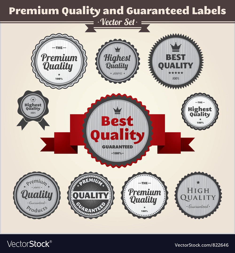 Premium quality and guaranteed labels vector | Price: 1 Credit (USD $1)