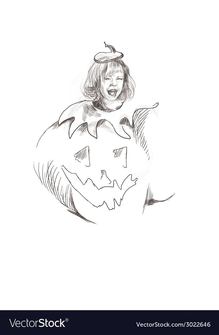 Pumpkin costume vector | Price: 1 Credit (USD $1)