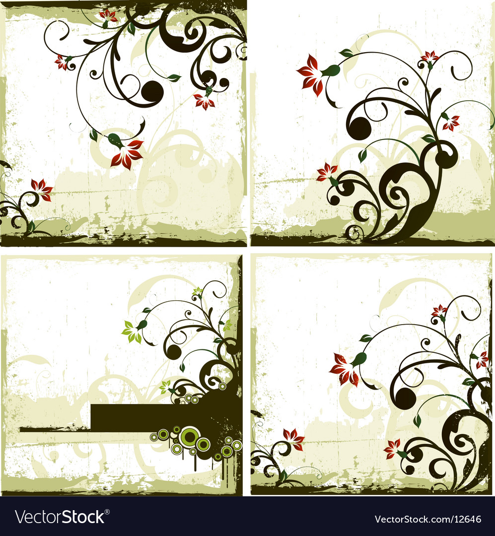 Urban floral backgrounds vector | Price: 3 Credit (USD $3)