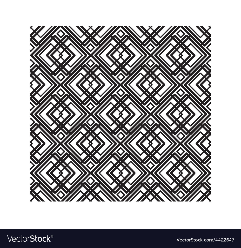 Abstract seamless geometric black and white vector | Price: 1 Credit (USD $1)