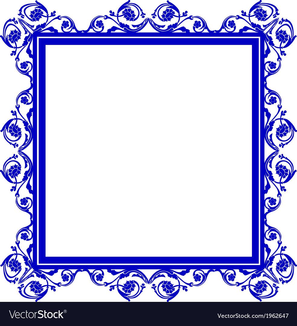 Blue frame vector   Price: 1 Credit (USD $1)