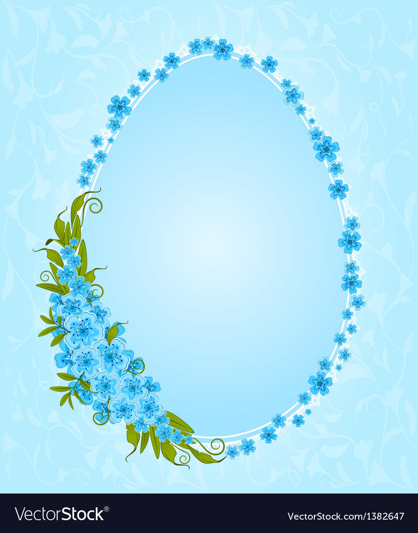 Easter border frame vector | Price: 1 Credit (USD $1)