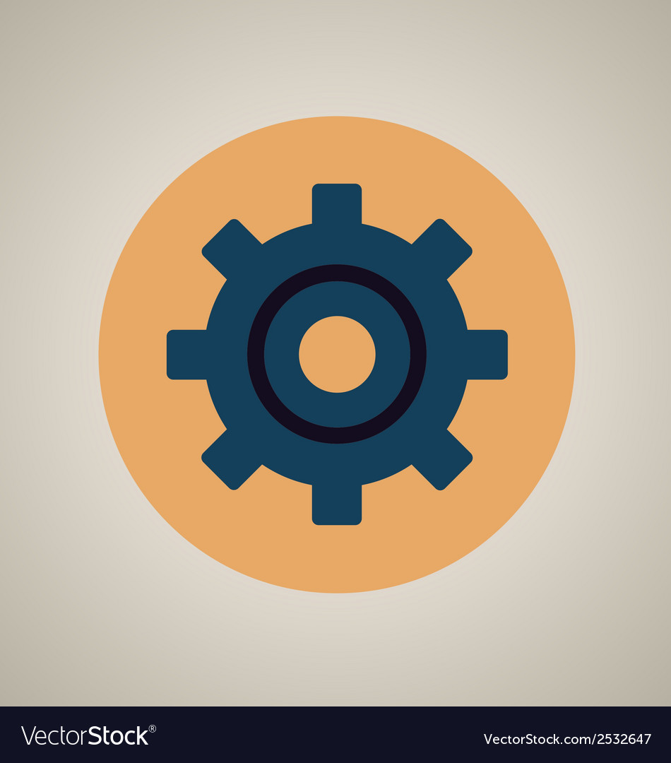 Gear setting icon vector | Price: 1 Credit (USD $1)