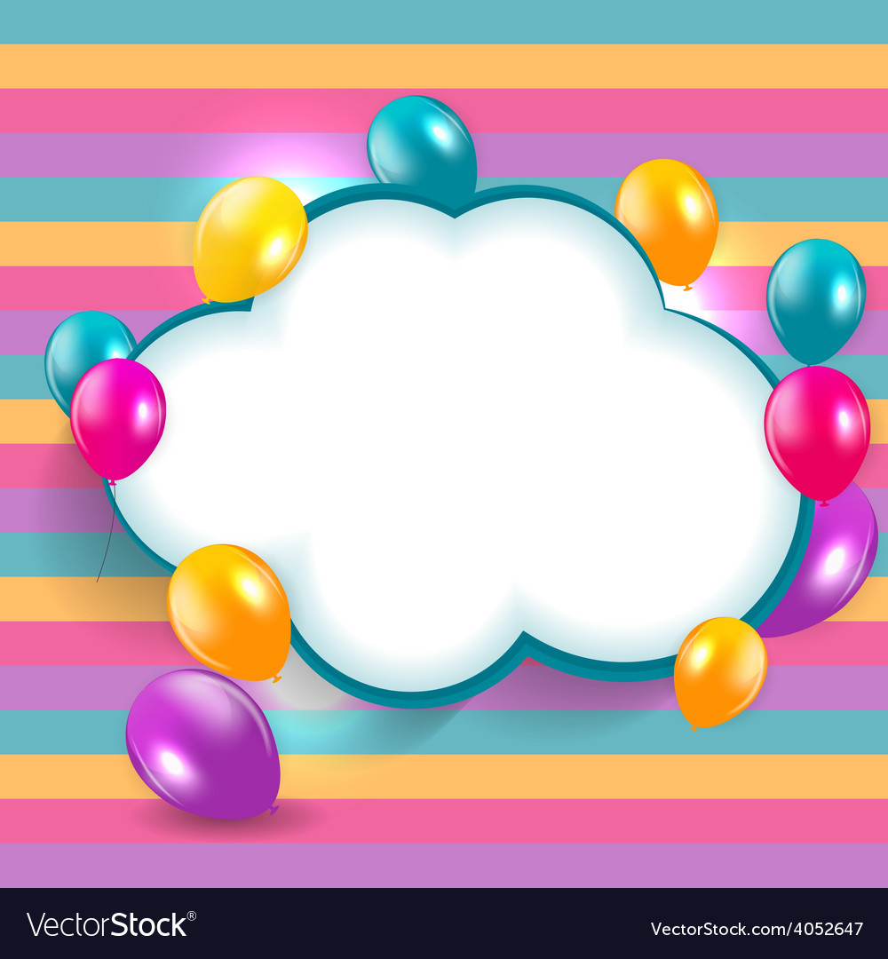 Glossy balloons background eps vector | Price: 1 Credit (USD $1)