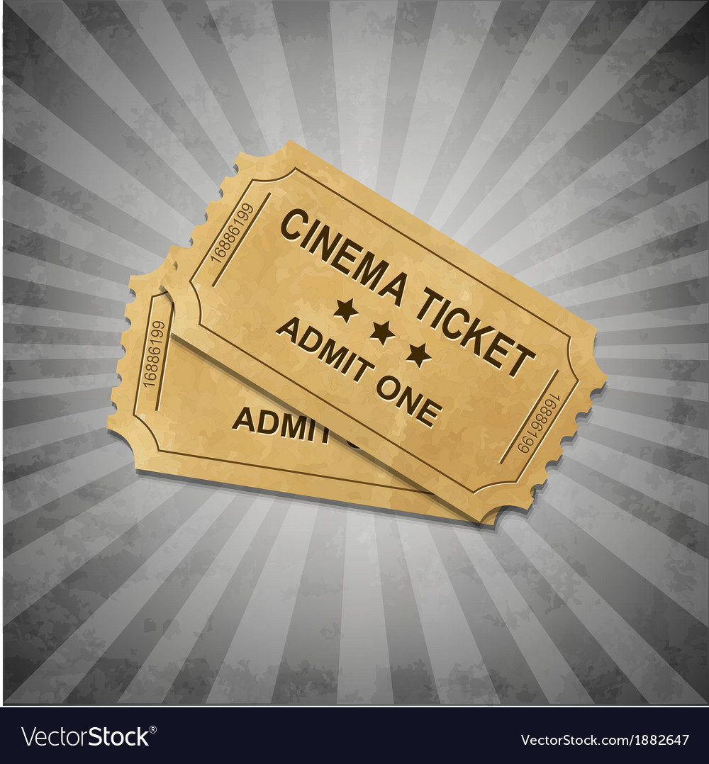 Grey grungy background with tickets vector