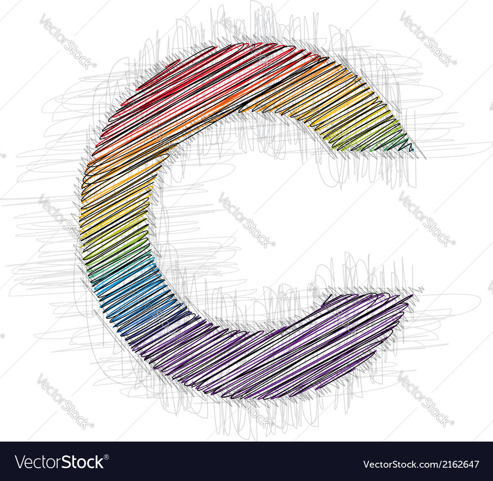 Hand draw font letter c vector   Price: 1 Credit (USD $1)