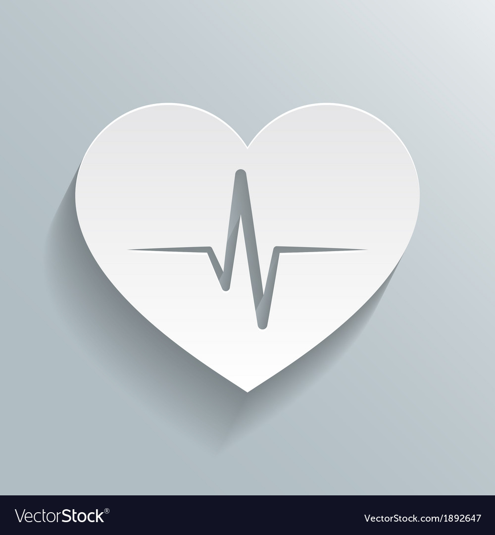 Heart beat rate icon vector | Price: 1 Credit (USD $1)