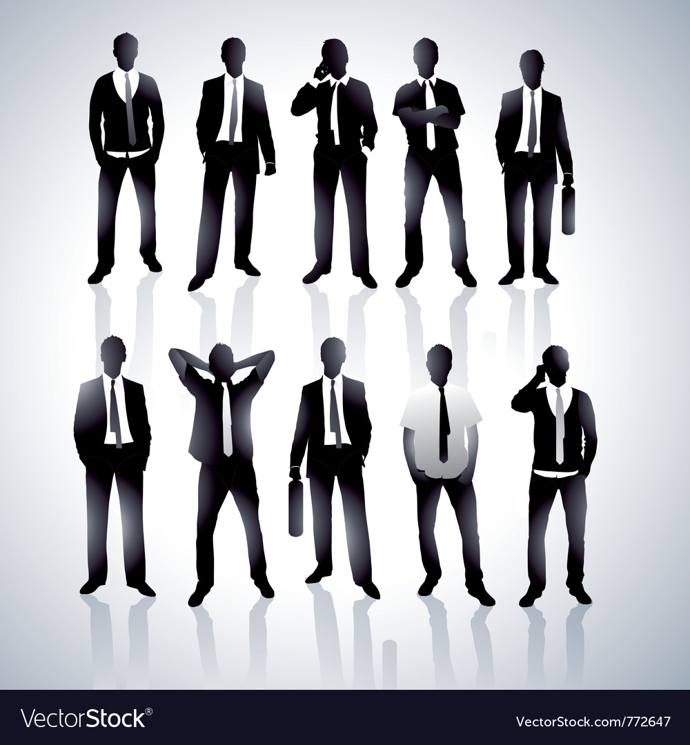Men in black suits vector | Price: 1 Credit (USD $1)