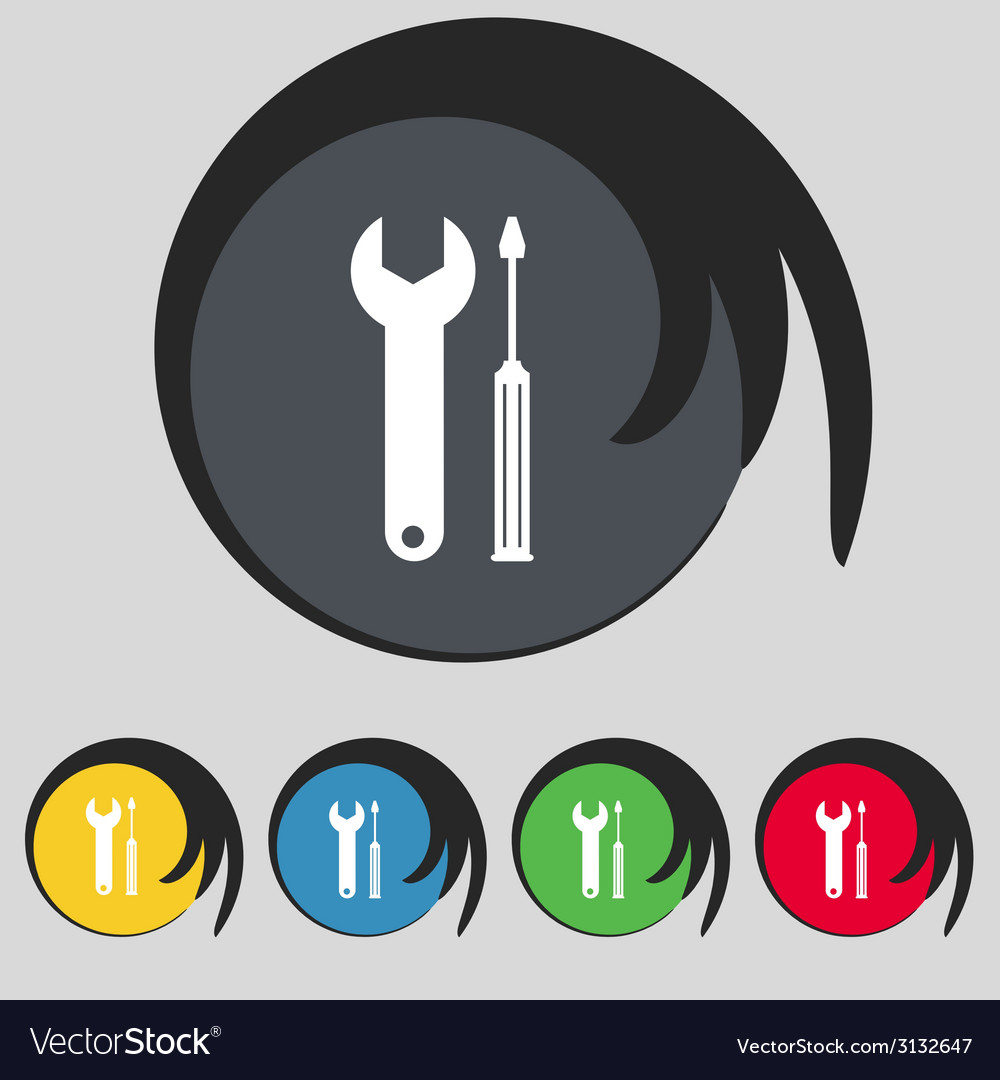 Repair tool sign icon service symbol screwdriver vector | Price: 1 Credit (USD $1)