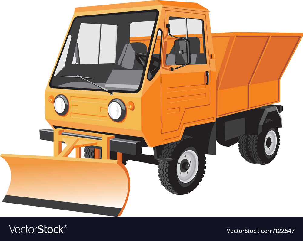 Street cleaning lorry vector | Price: 1 Credit (USD $1)