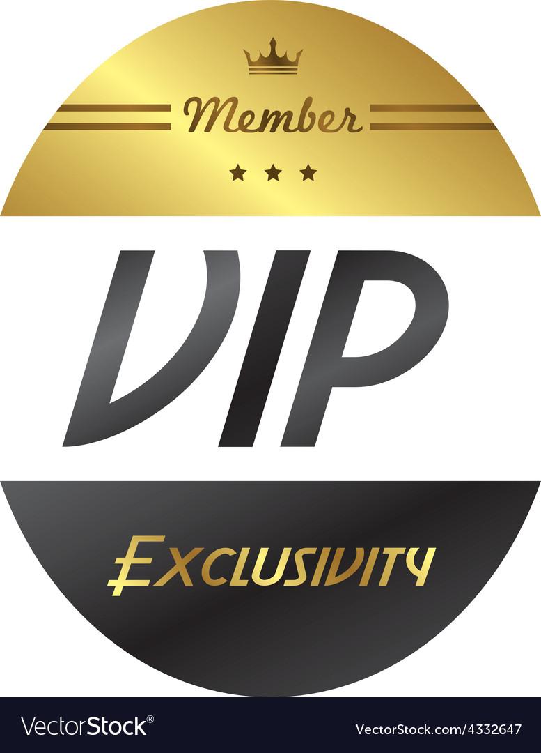 Vip member badge vector   Price: 1 Credit (USD $1)