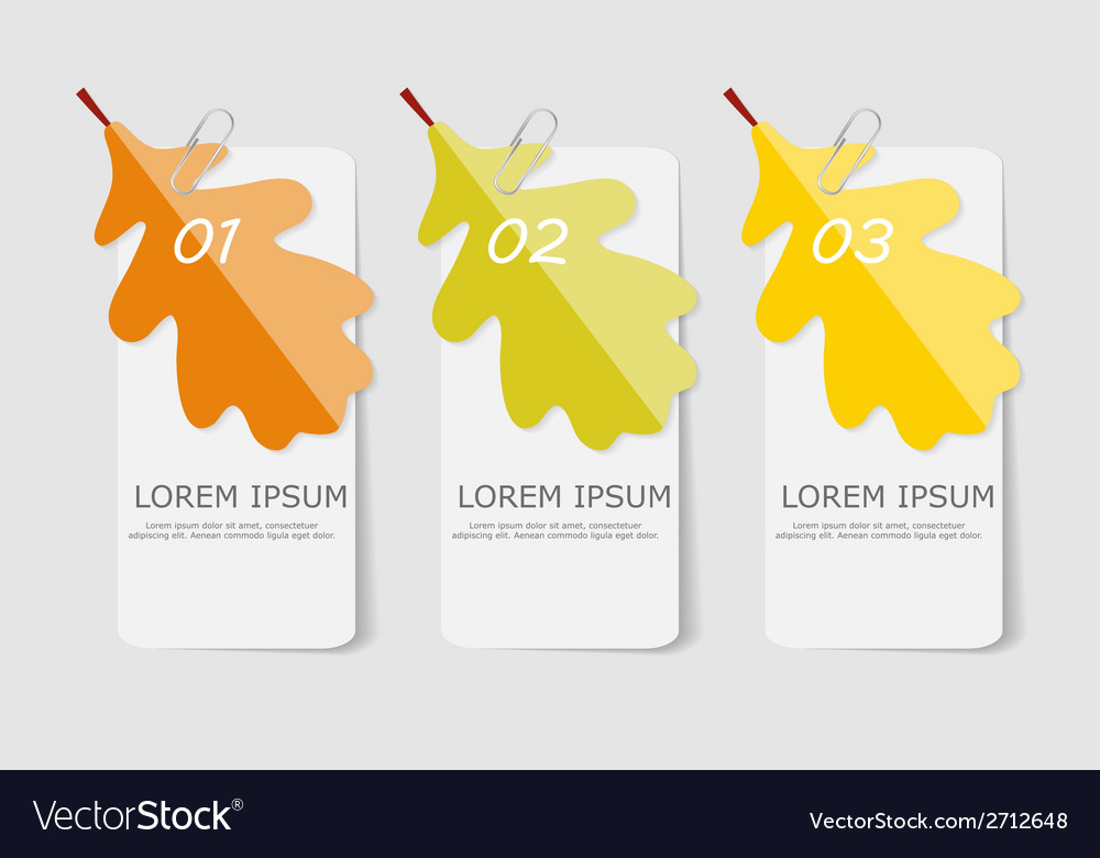 Autumn leaves infographic templates for business vector | Price: 1 Credit (USD $1)