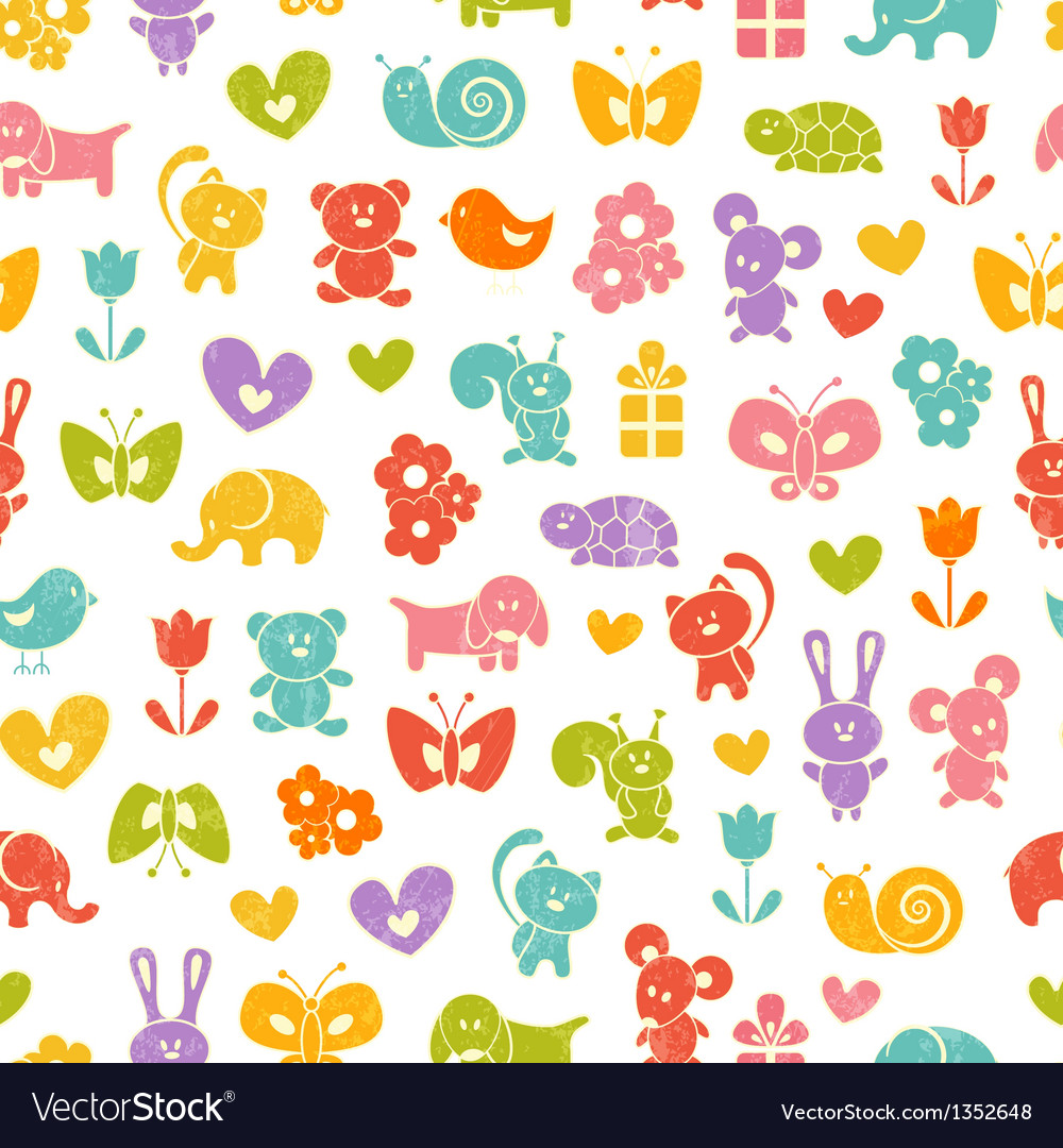 Baby seamless wallpaper vector | Price: 1 Credit (USD $1)