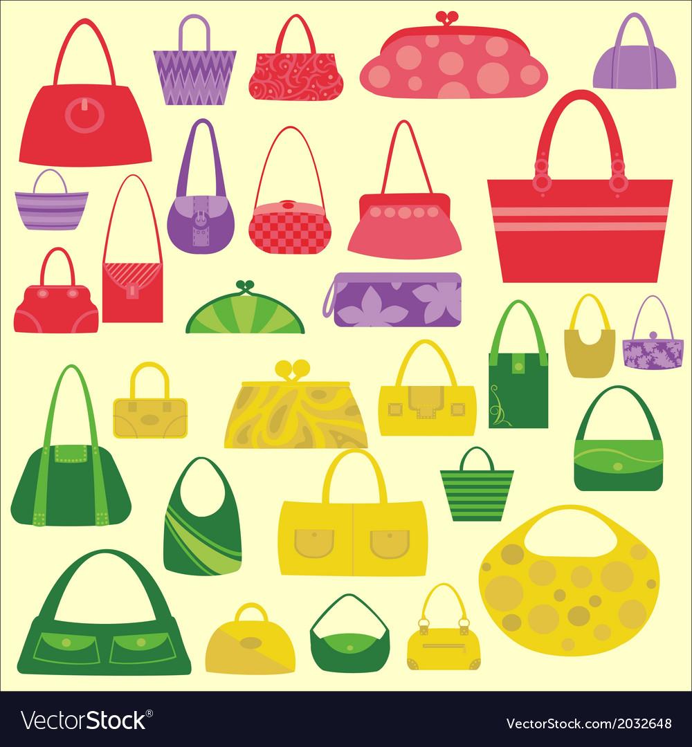 Bags women digital clipart vector | Price: 1 Credit (USD $1)