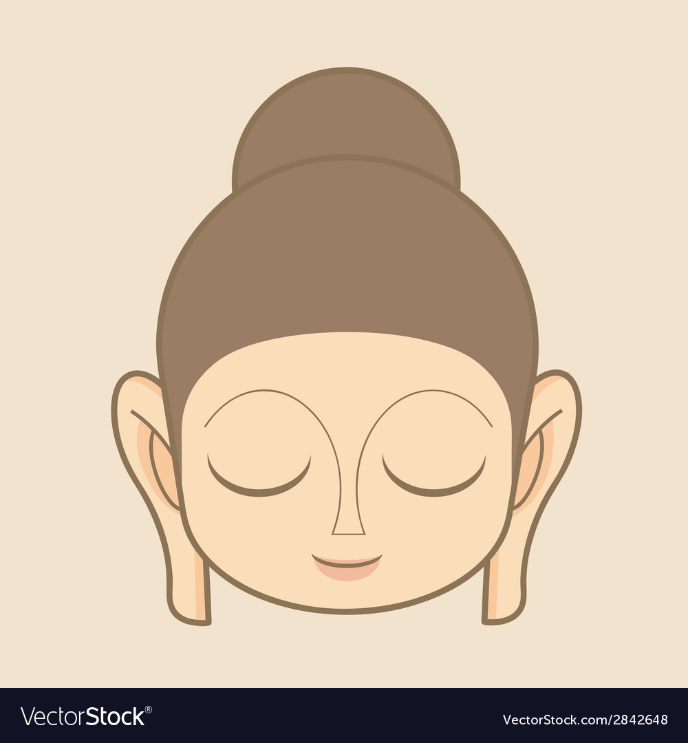 Buddha statue head vector | Price: 1 Credit (USD $1)