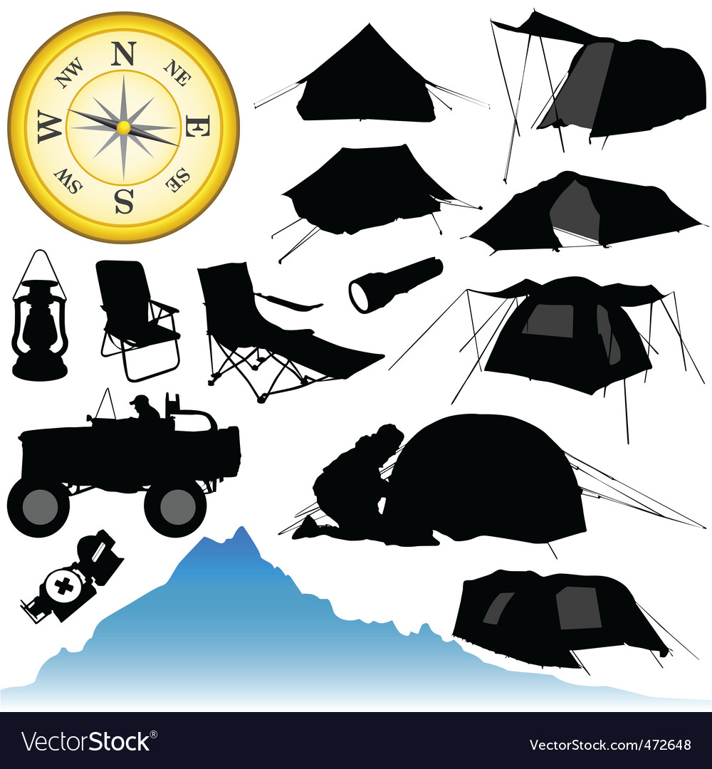 Camping equipment vector | Price: 1 Credit (USD $1)