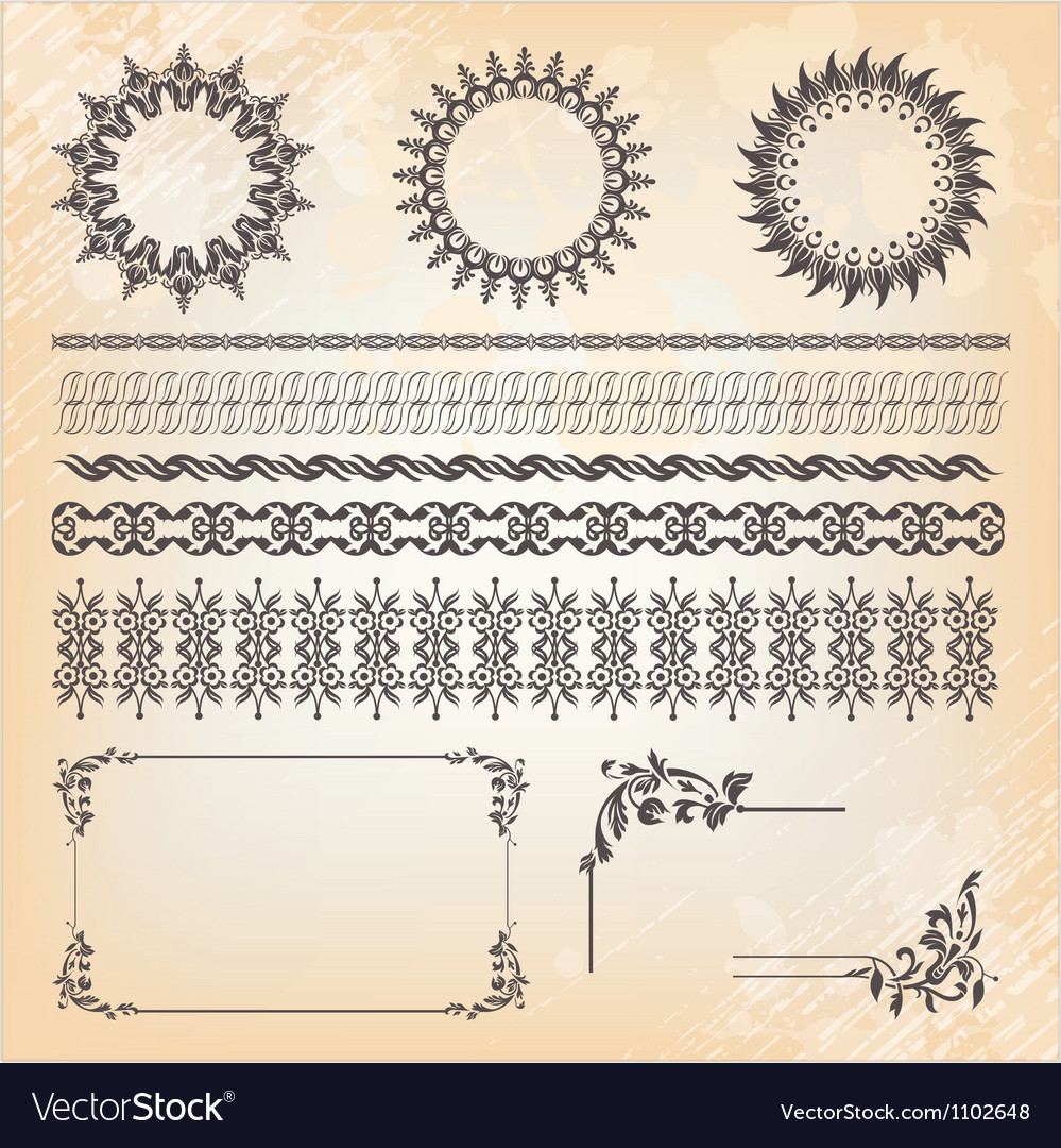 Collection of ornaments and page decoration vector | Price: 1 Credit (USD $1)