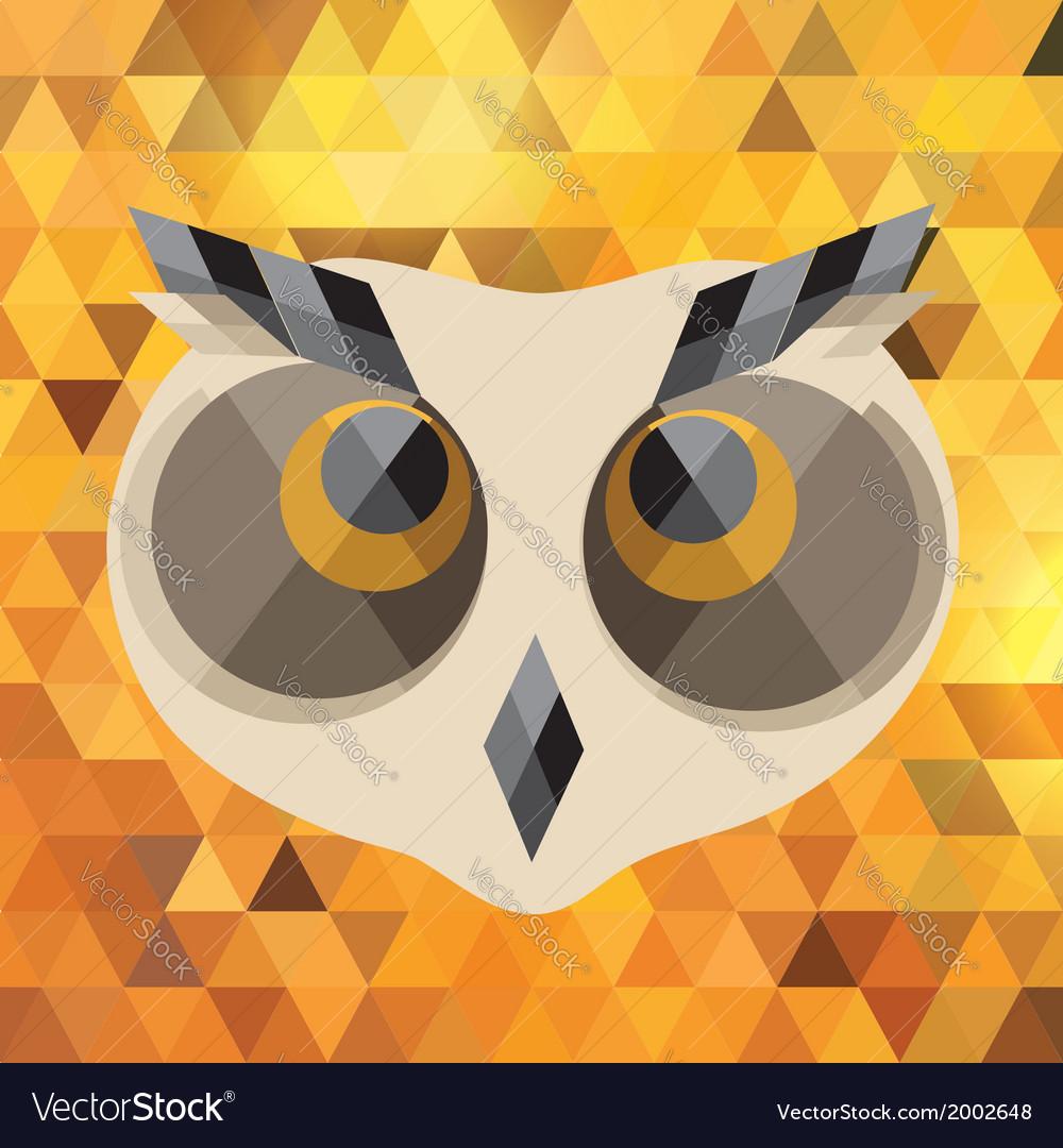 Creative owl vector | Price: 1 Credit (USD $1)