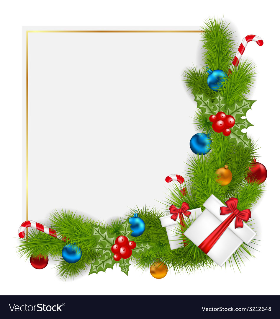 Decorative border from a traditional christmas vector | Price: 1 Credit (USD $1)