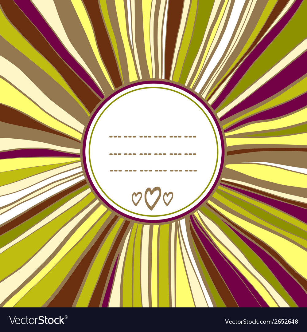 Decorative round frame template for your design vector | Price: 1 Credit (USD $1)
