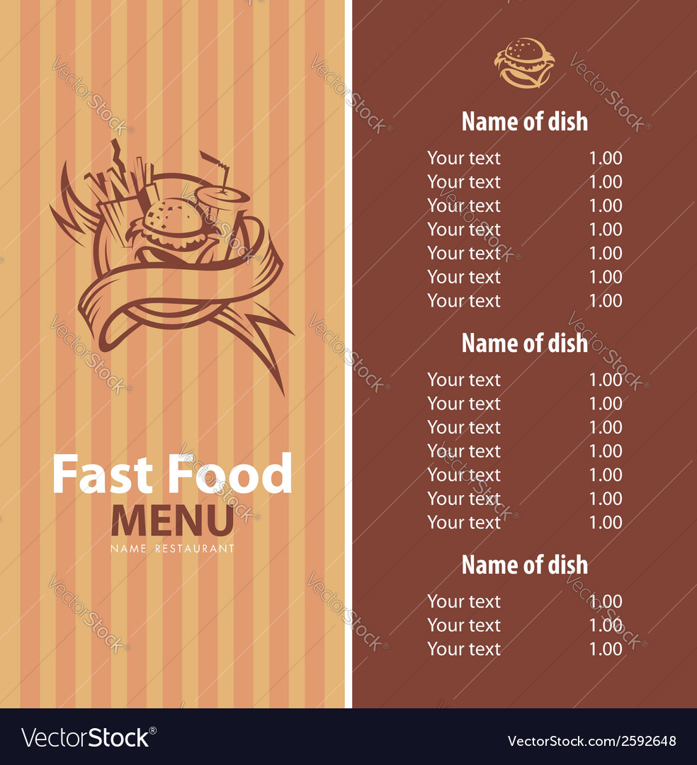 Fast food banner vector | Price: 1 Credit (USD $1)