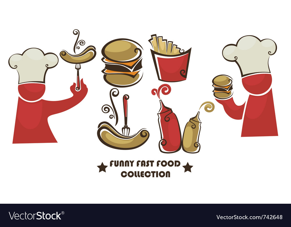 Funny american fast food vector | Price: 1 Credit (USD $1)