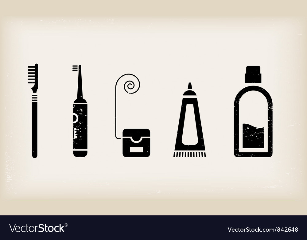 Mouth and teeth care icons vector | Price: 1 Credit (USD $1)