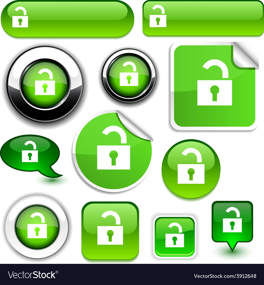 Padlock signs vector | Price: 1 Credit (USD $1)