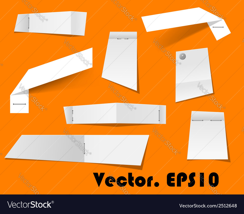 Paper scraps and notes attached with stapler vector | Price: 1 Credit (USD $1)