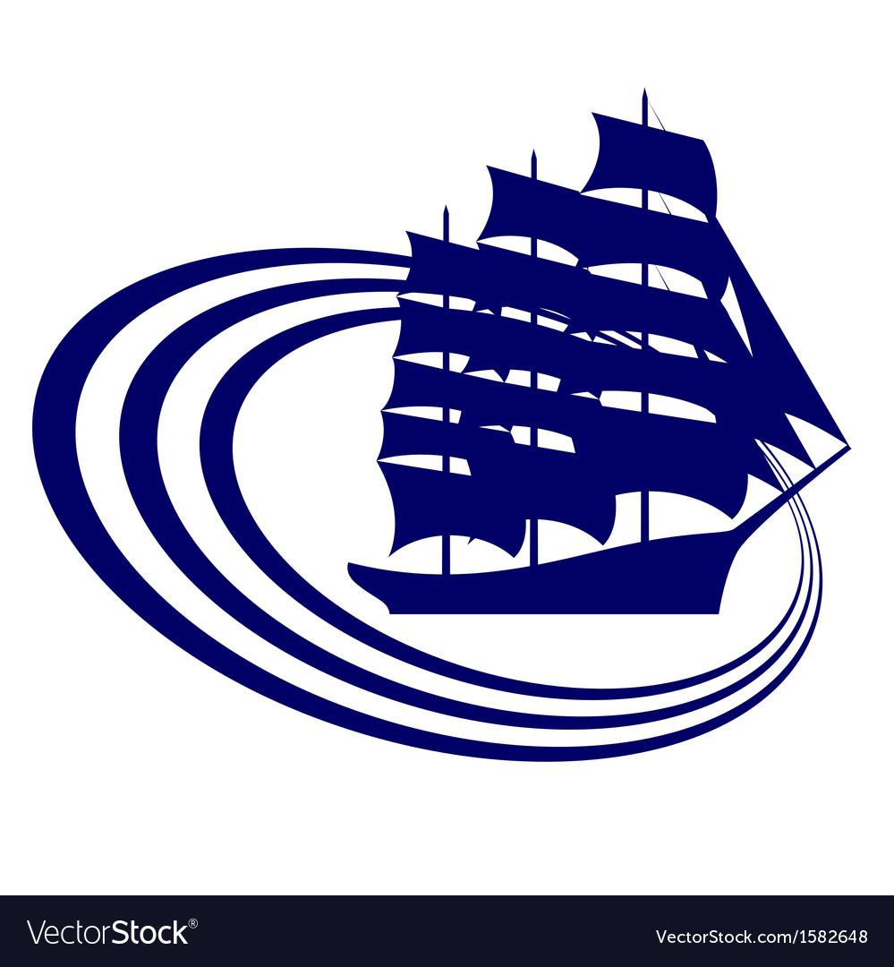Sailing ship-11 vector | Price: 1 Credit (USD $1)