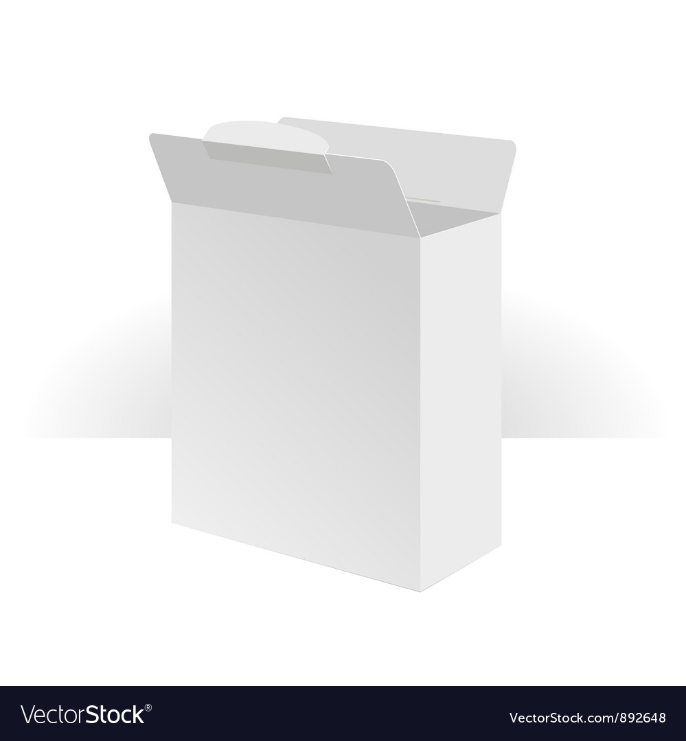 Software package carton blank box opened vector | Price: 1 Credit (USD $1)