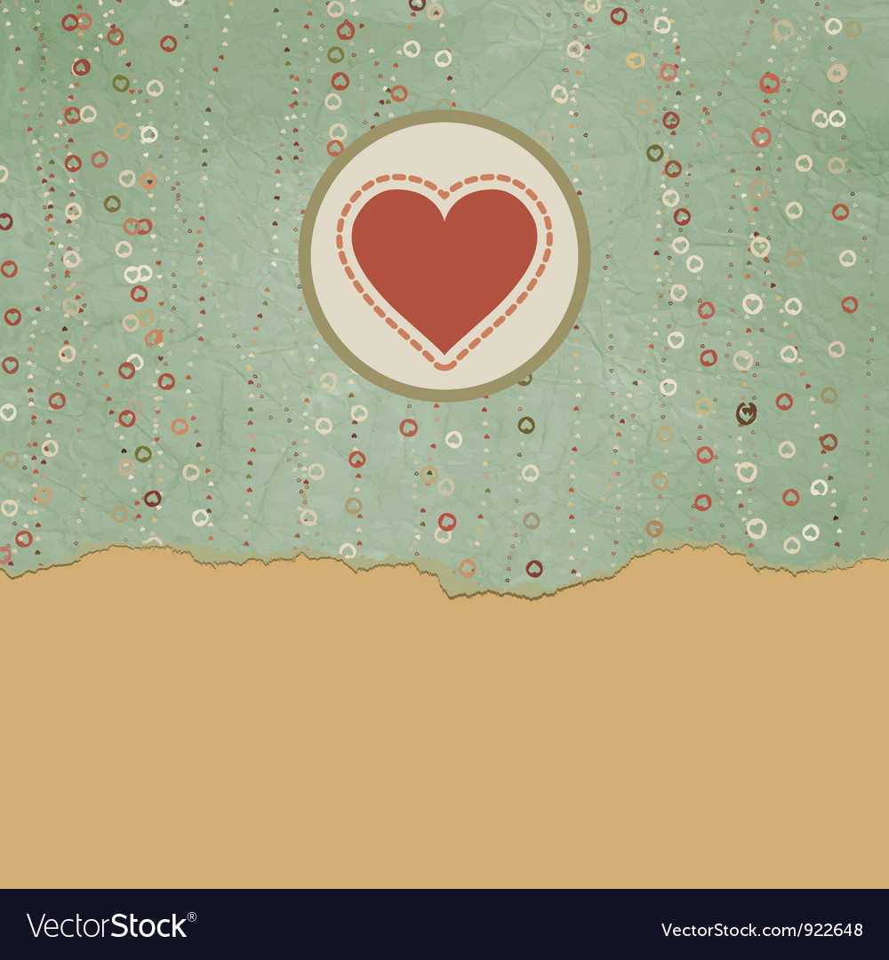 Vintage valentine hearts card vector | Price: 1 Credit (USD $1)