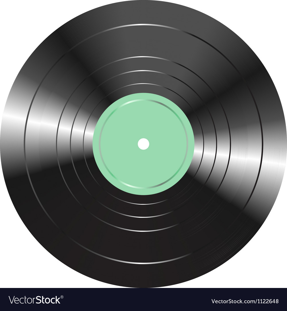 Vintage vinyl record isolated on white background vector | Price: 1 Credit (USD $1)