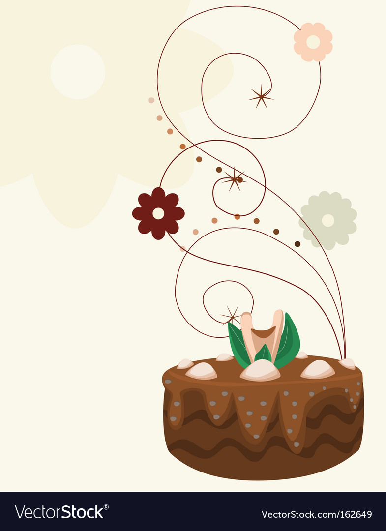 Cake with background vector | Price: 1 Credit (USD $1)
